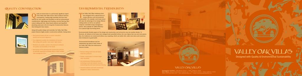 Valley Oak Villas brochure spread